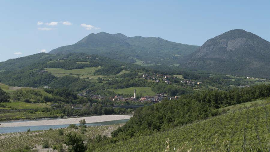 Piacenza come arrivare - val Trebbia - panorama