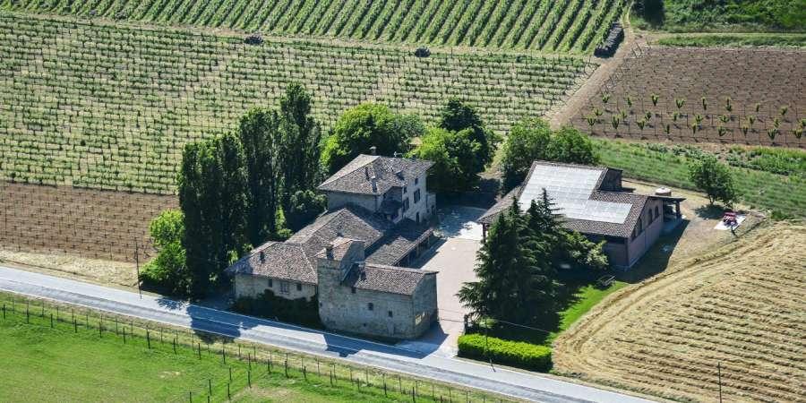 casa benna veduta aerea - Castell'Arquato